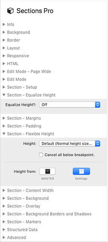 Section Pro height options?
