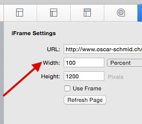 iFrame Page Skewed Display on mobile - General - RapidWeaver