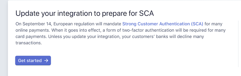 Stripe SCA update required with Checkout stack and RapidCart