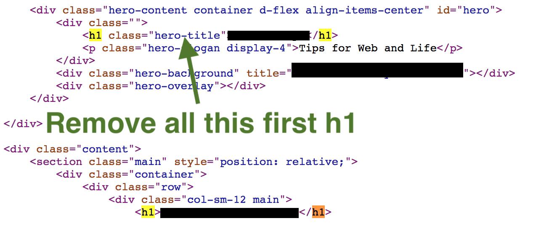 Removing duplicate h1 and RW branding - RapidWeaver