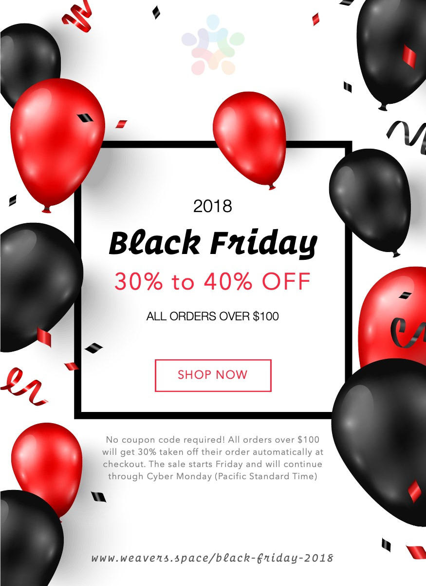 16a5b0768 🎉 Weaver s Space Black Friday Sale 2018 - 30% to 40% off everything ...