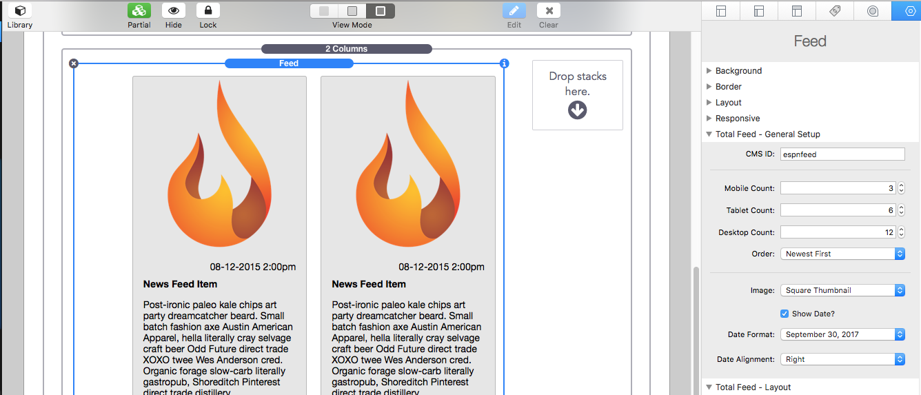 Total CMS RSS Feed Set-up - Stacks - RapidWeaver Forums