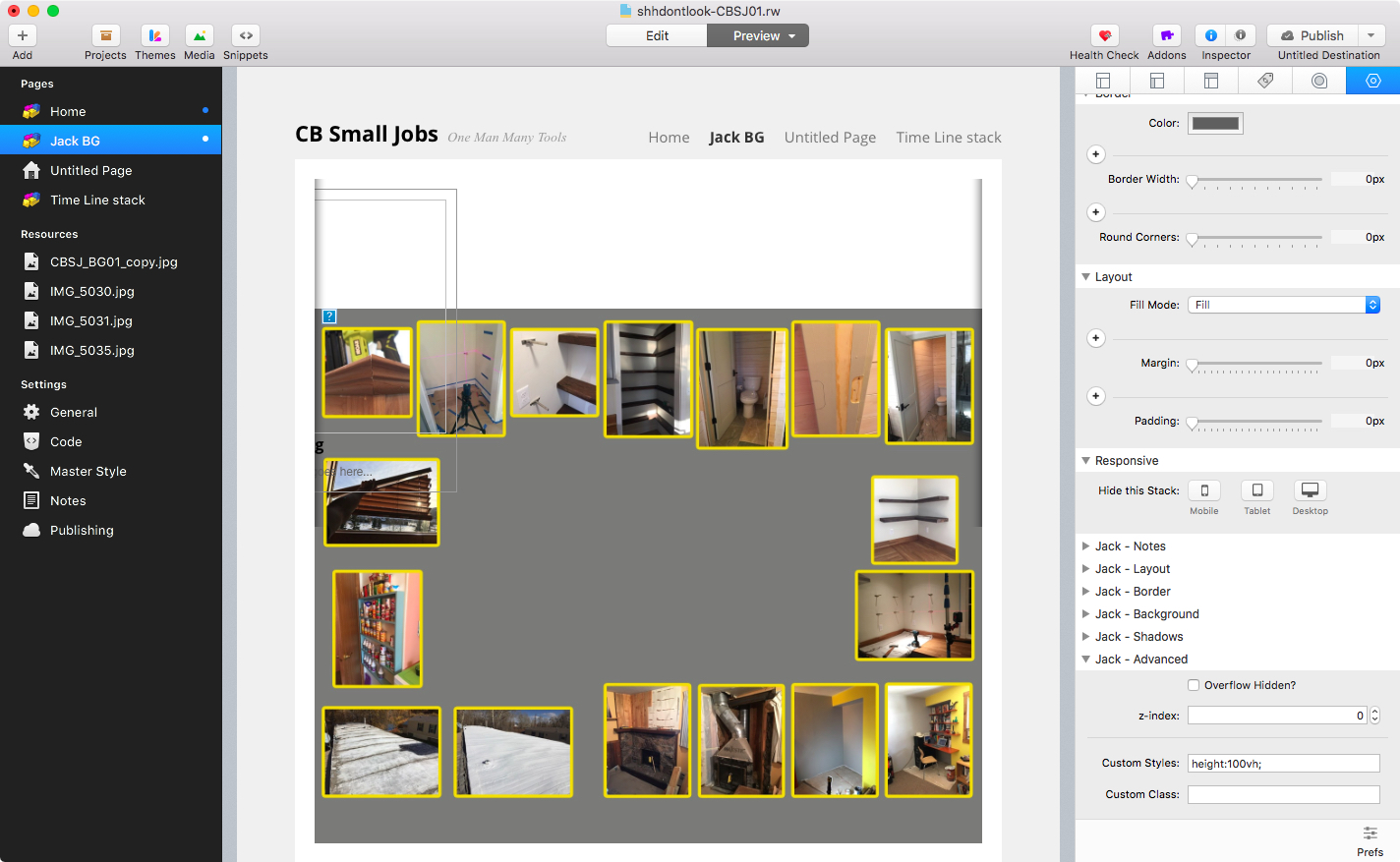 Full screen background image? - General - RapidWeaver Forums
