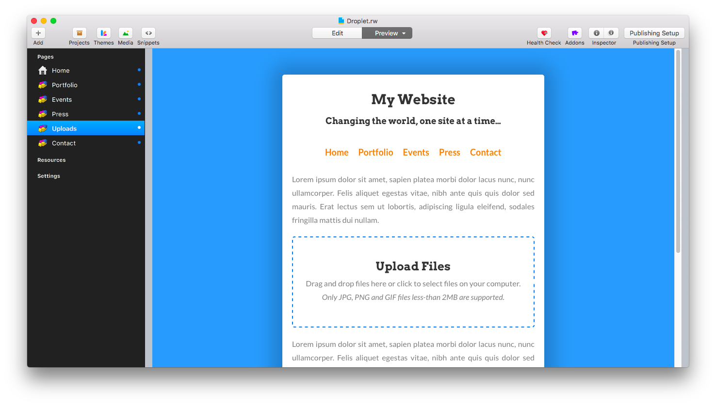 Introducing the new Droplet stack - Announcements - RapidWeaver Forums